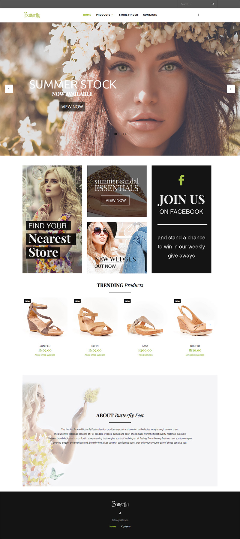 Butterfly Feet Web Design