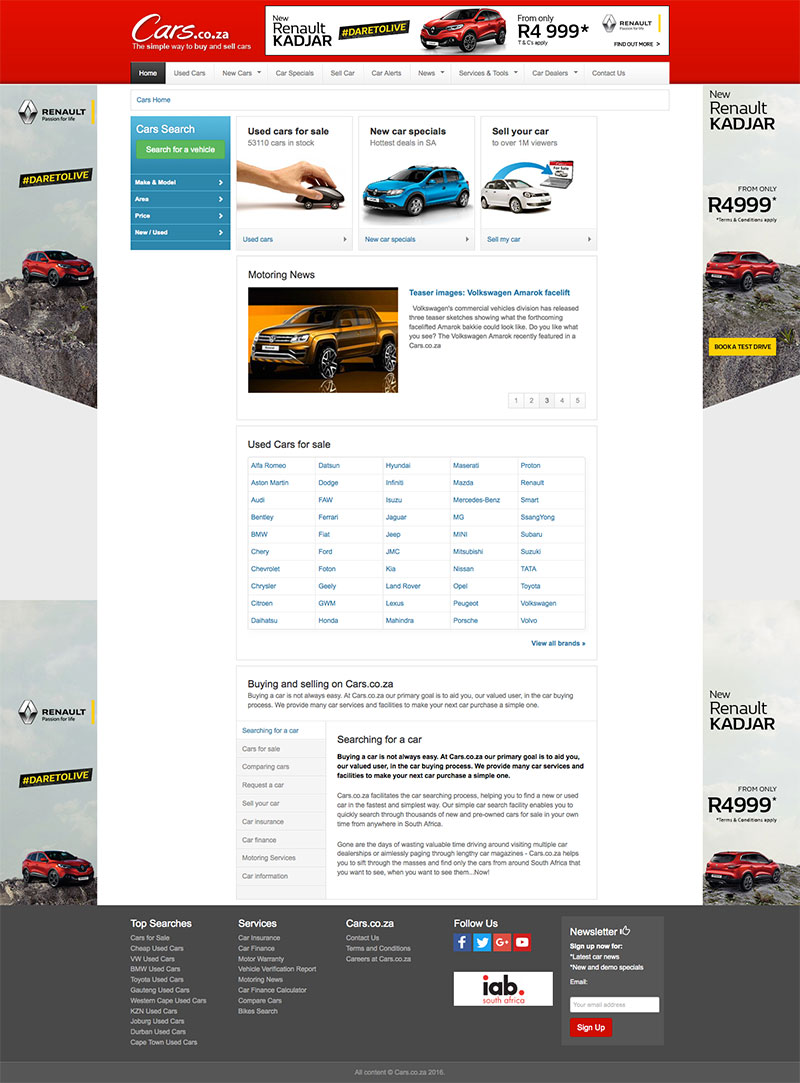 Cars.co.za Website