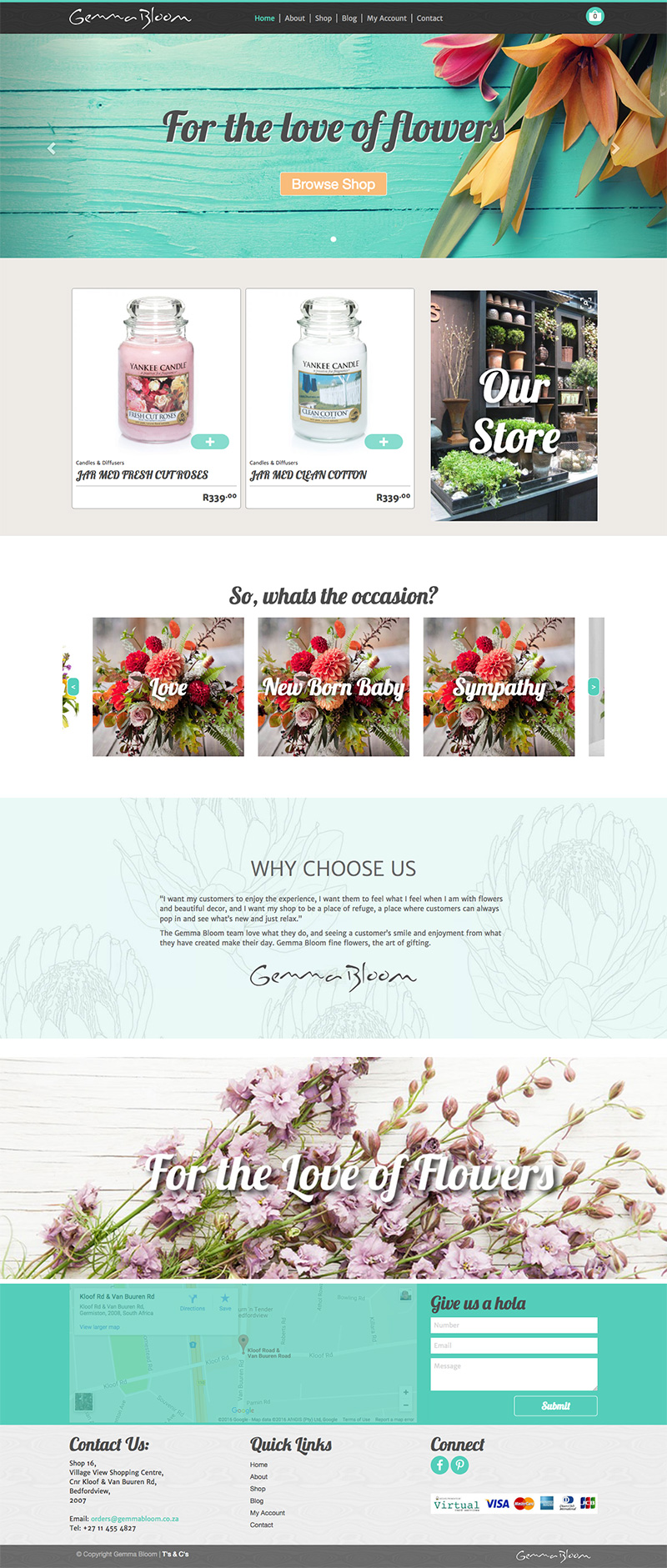 Gemma Bloom Website Design